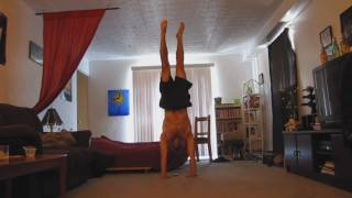 handstand through entire song