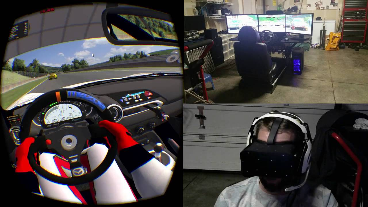 iRacing Practice with an Oculus Rift Headset, Simply Amazeballs