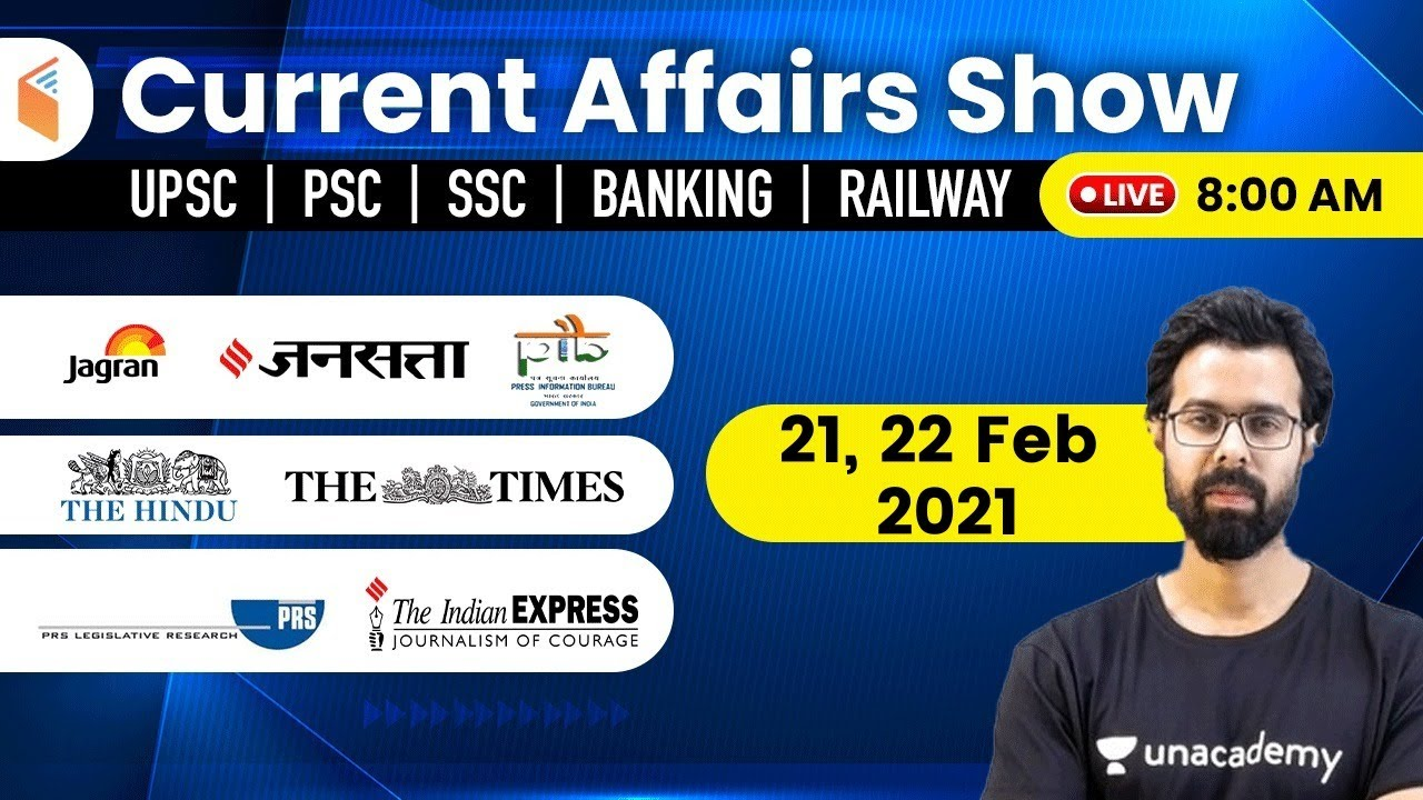 Download 8:00 AM -21,22 February 2021 Current Affairs | Daily Current Affairs 2021 by Bhunesh Sir | wifistudy