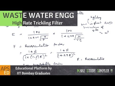 High Rate Trickling Filter | Waste Water Engineering