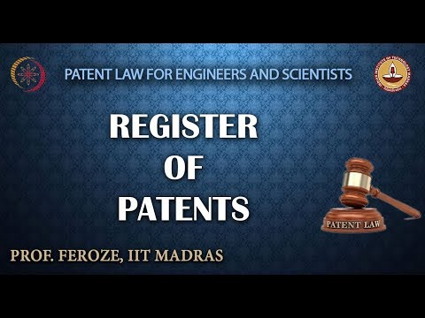 Register of Patents