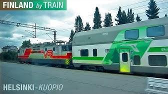 Helsinki - Kuopio by VR Train, HD Video - Finland by Train
