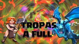 NUEVAS TROPAS AL MAXIMO!!! SUPER DRAGONES ELECTRICOS Y VALQUIRIAS - CLASH OF CLANS!!!!