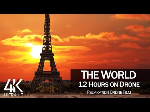 【4K】THE WORLD as you have never seen before 2021 🔥 12 HOURS 🔥 Cinematic Aerial 🔥 Beauty Planet Earth