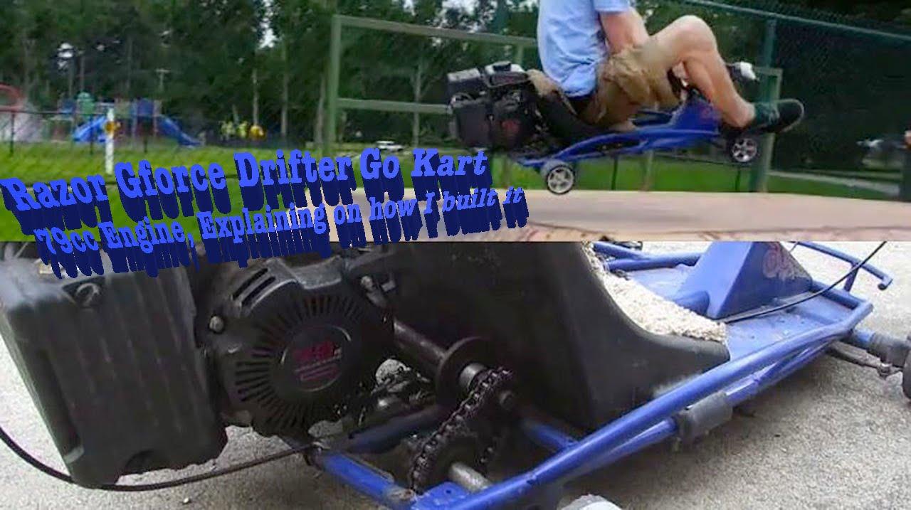 Razor Gforce Drifter Go Kart 79cc Engine Explaining On