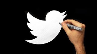 How To Draw the Twitter Logo | Silver Drawing Easy and Simple Fan Art