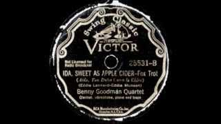 78 RPM: The Benny Goodman Quartet - Ida, Sweet As Apple Cider