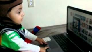 Manav playing laptop
