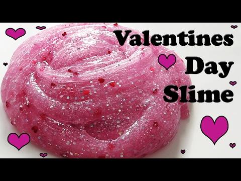 Slimeyslimetime - Jiggly Stretchy Valentines Day Clear Holo Glitter Slime