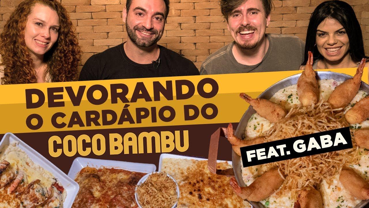DEVORANDO O CARDÁPIO DO COCO BAMBU!! (Feat. Gaba)