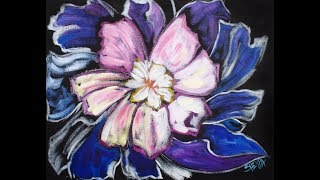 Easy Abstract Peony Flower Acrylic Painting for Beginner Artists