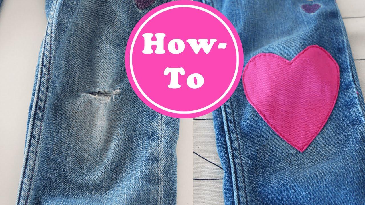 jeans flicken selber machen g nstige haushaltsger te. Black Bedroom Furniture Sets. Home Design Ideas