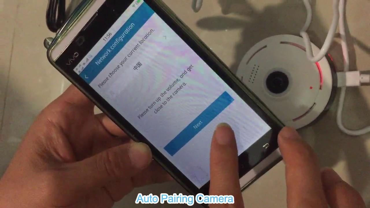How to Install SACAM Fisheye WiFi Camera with App IPC360