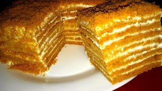 Медовик без раскатки коржей. Ленивый медовик Простой торт