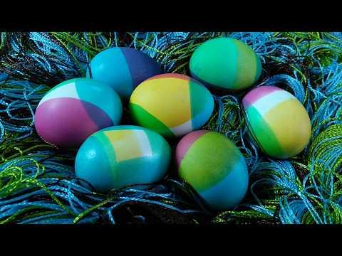 Окрашивание яиц в радужные цвета