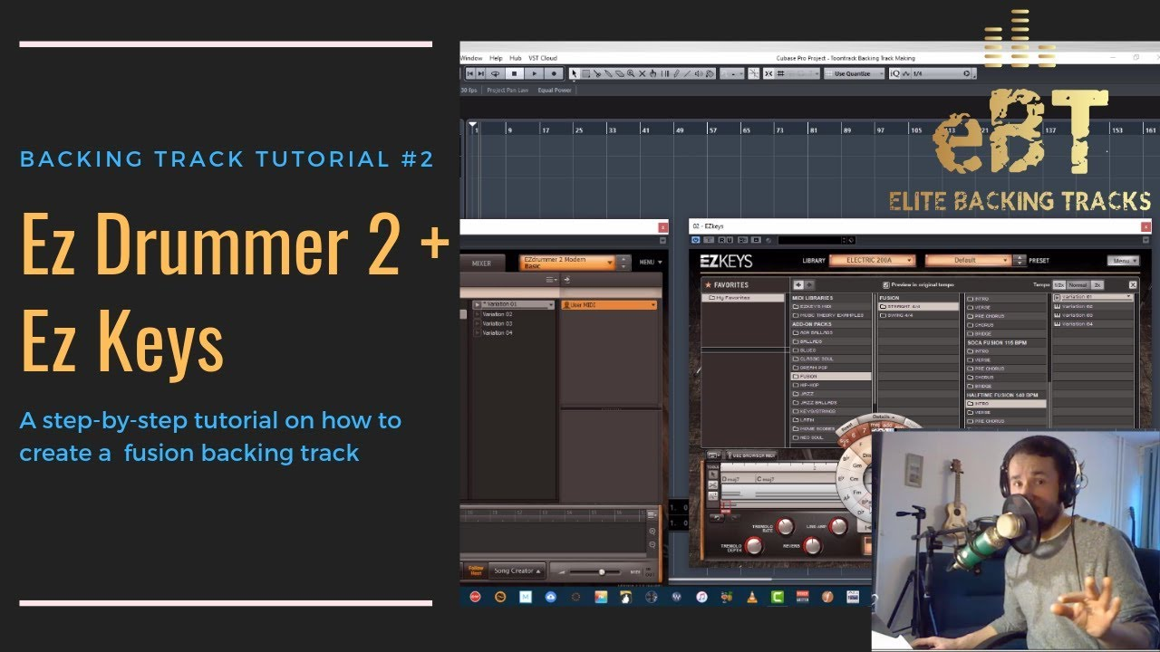 TUTORIAL #2: How To Make A backing Track with EZdrummer 2 & EZkeys!