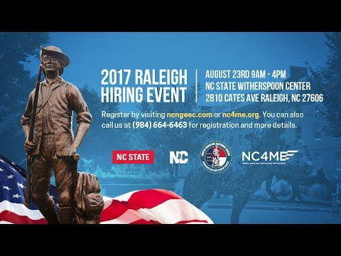 2017 Raleigh Hiring Event Announcement