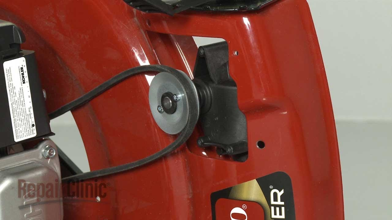 medium resolution of toro lawn mower won t self propel replace drive belt 117 1018