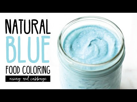 How To: Natural Blue Food Coloring with Red Cabbage - YouTube