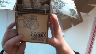 POP-UP BOX CARD - 3D BOX CARD with VILDA STAMPS