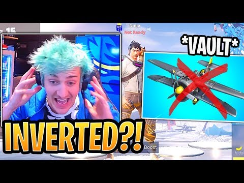 Ninja First Time Using New Airplane and is NEVER Using it Again! - Fortnite Best and Funny Moments