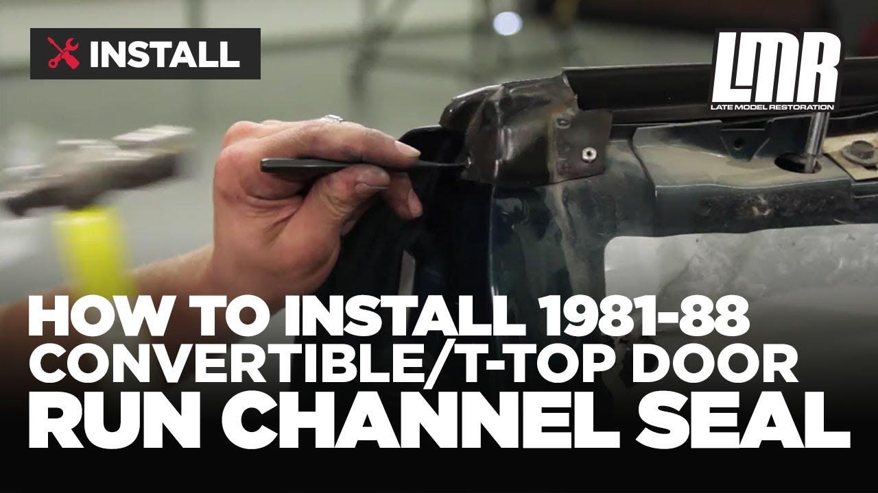 Fox Body Mustang Door Run Channel Seal Install 81 88