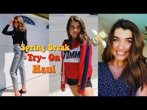 spring try on haul // brandy melville &...