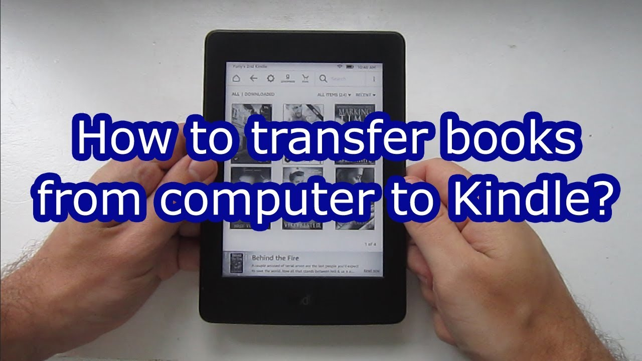 from kindle book computer to