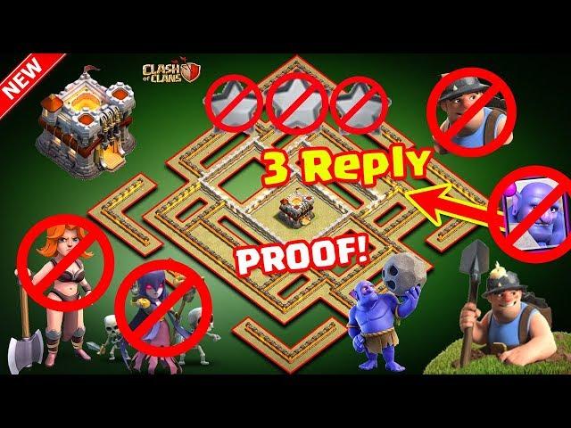 Th11 War Base 2017 Anti 1 Star/Anti 2 Star With Replay Anti Bowler Anti Miner Anti Everything
