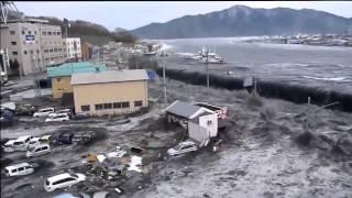 Японское цунами  Страшно жутко!