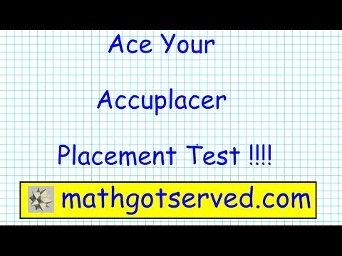 Accuplacer Arithmetic pt I Testprep Exam Practice Math Place
