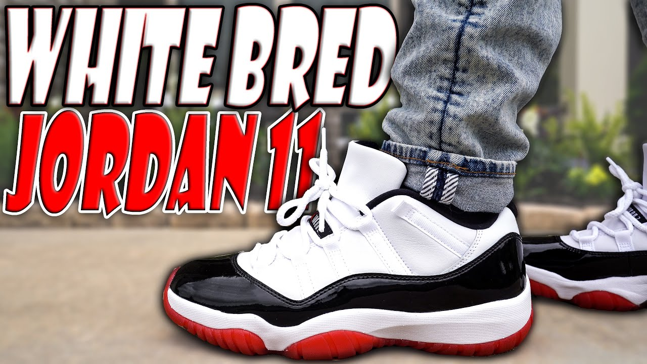 Air Jordan 11 Low White Bred Review And On Foot In 4k Youtube