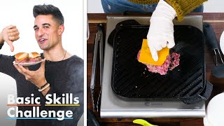 50 People Try To Grill a Burger | Basic Skills Challenge