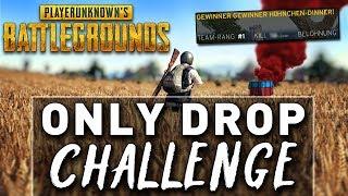 ONLY DROP CHALLENGE - Meine BESTE Runde in PUBG ! ft, Halitic Highlight Deutsch Edit Gameplay