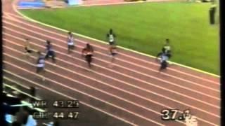 Cayetano Cornet en los 400m de la Copa del Mundo de Barcelona 1989