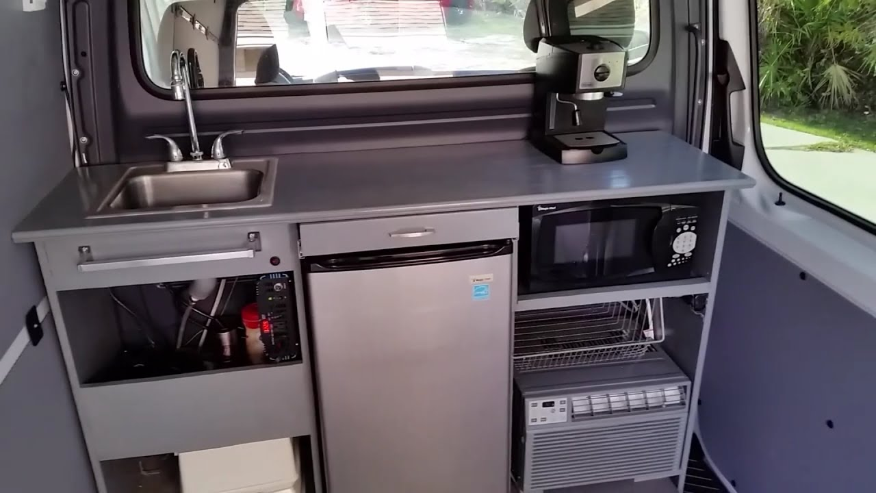 Converted Vans Mercedes Sprinter Work Van Kitchen Custom Conversion Rv Diy Youtube