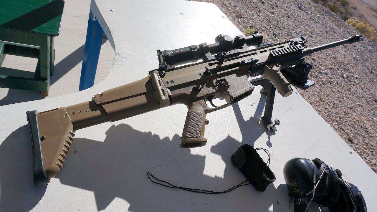 実弾射撃 fn scar アサルトライフル fn scar assault rifle youtube
