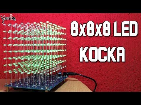 Kako sastaviti kocku od 512 LED dioda (8x8x8 cube)