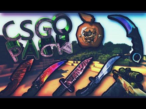 CSGO TEXTURE PACK PVP Animado | Minecraft 1.8.9/1.8.8/1.8