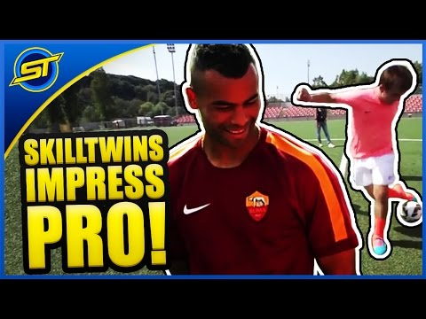 SkillTwins Impress Ashley Cole With Amazing Football & Freestyle Skills! ★