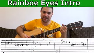 Tutorial: Rainbow Eyes Intro (Rainbow) - w/ TAB (Guitar Lesson)