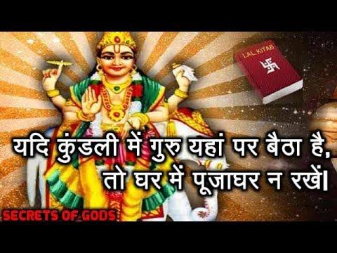 यदि कुंडली में गुरु यहां पर बैठा है तो घर में पूजाघर न रखें| Lal-Kitab Remedies For Jupiter/Guru.