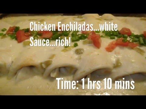 Chicken Enchiladas...white Sauce...rich! Recipe