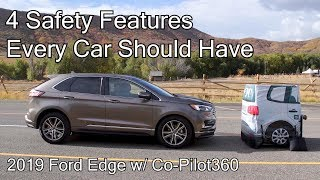 4 Safety Features Every Car Should Have - 2019 Ford Edge w/ Co-Pilot360 + Alexa