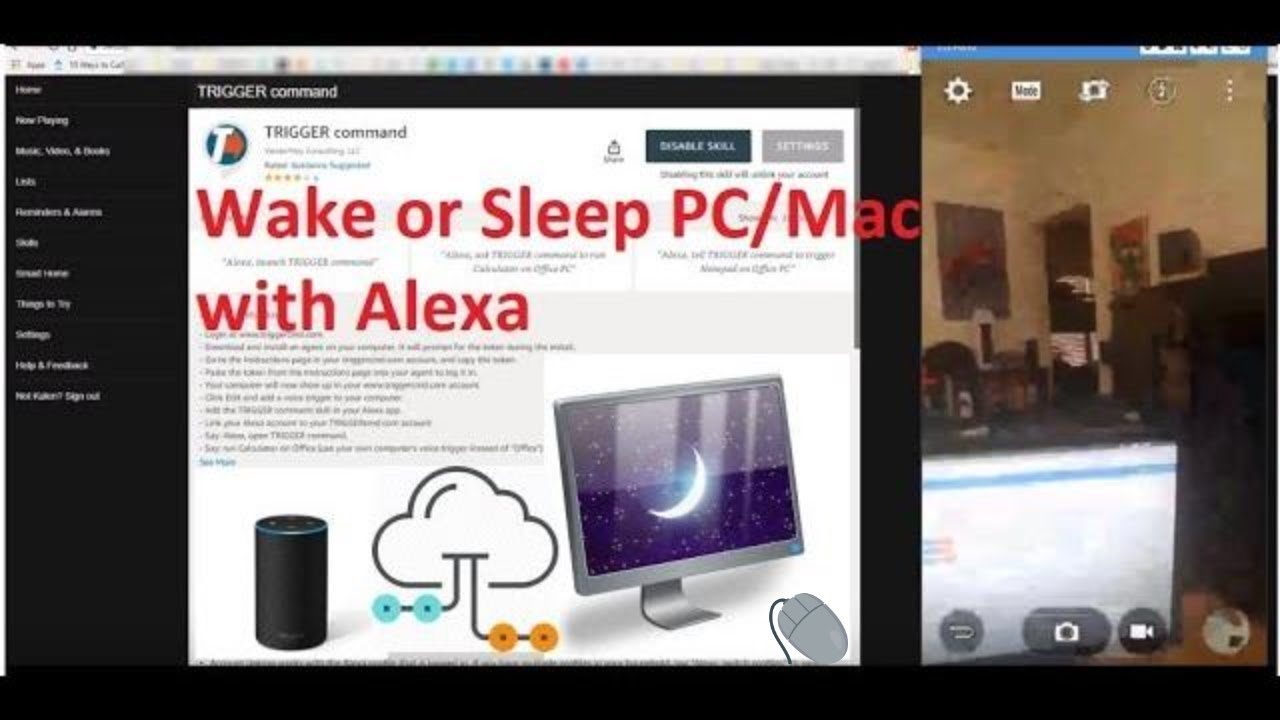 Turn on and off computer with Alexa using TriggerCMD Alexa Skill for  Windows, Linux, Mac & Pi