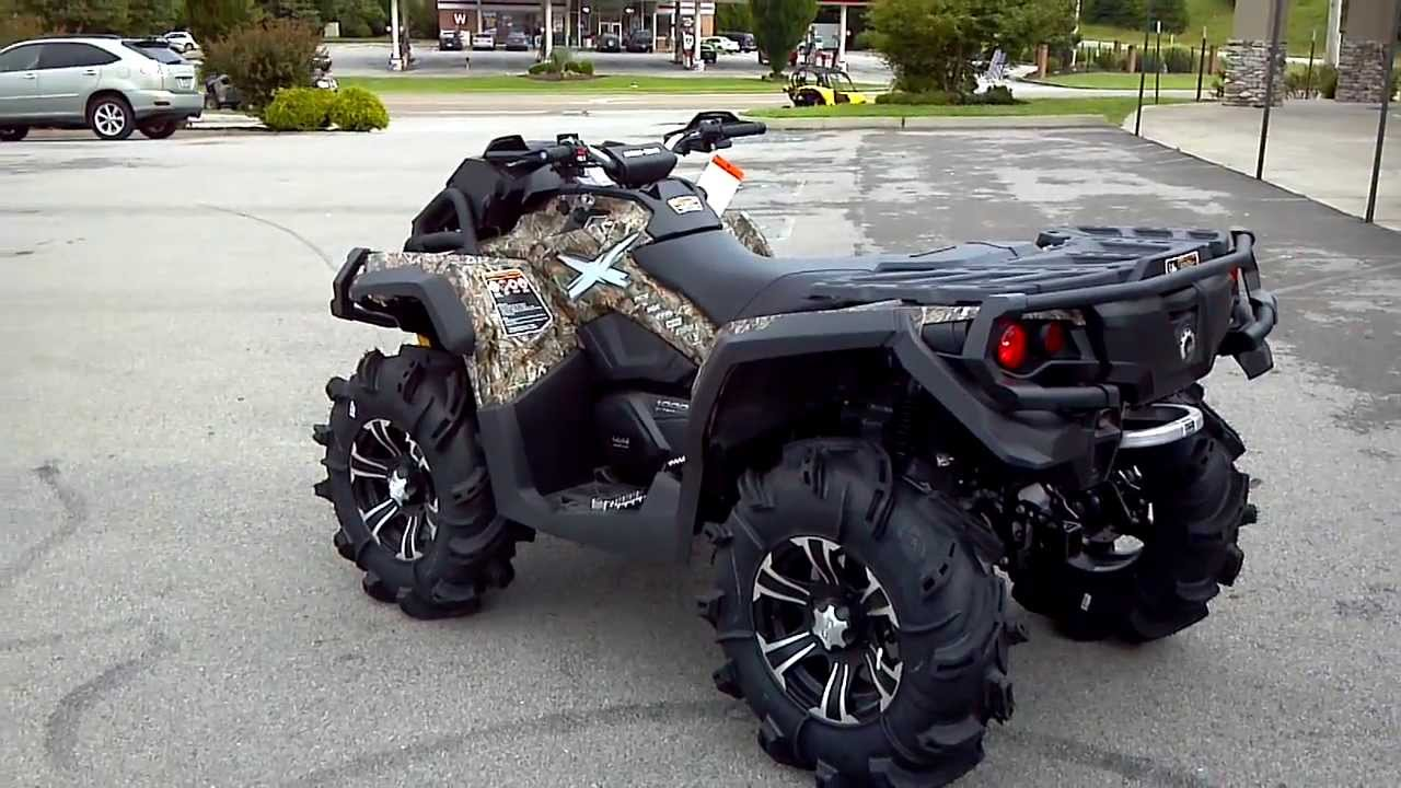 2014 can am outlander 1000 mud racer camo fox shocks power. Black Bedroom Furniture Sets. Home Design Ideas