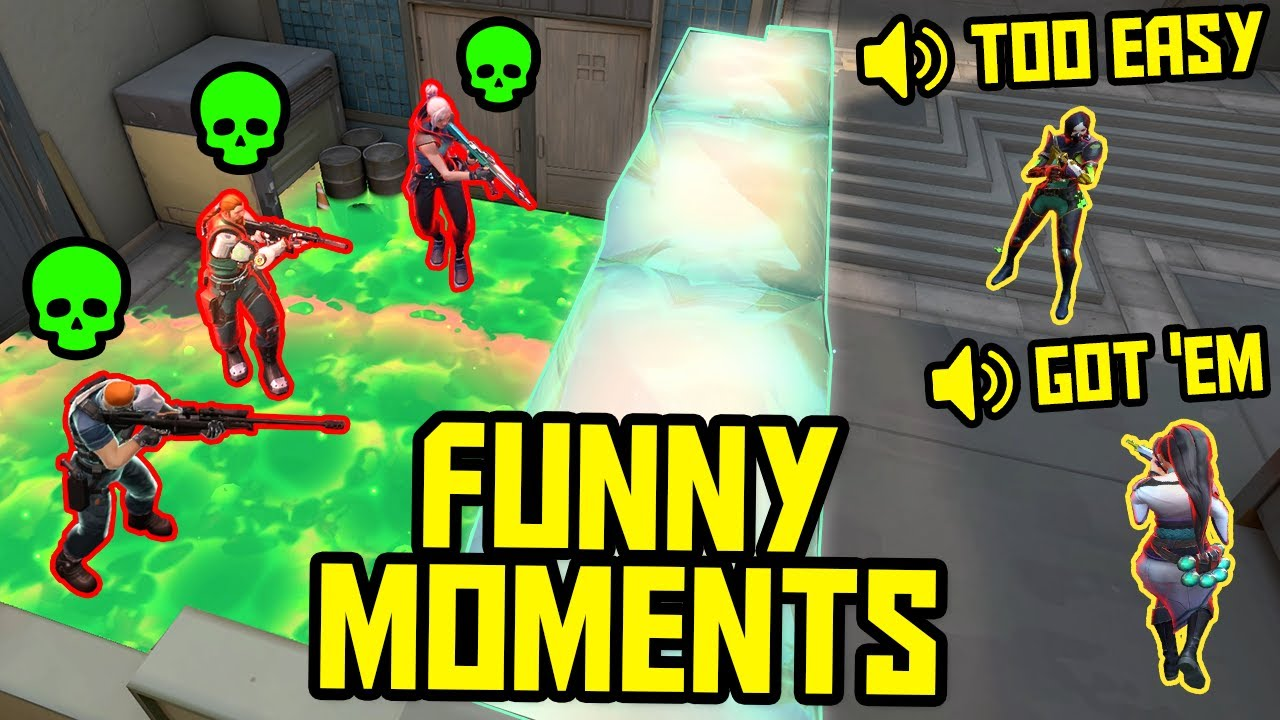 FUNNIEST MOMENTS IN VALORANT #51...