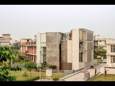 Artrovert House in Noida by Anagram Architects