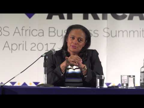 Isabel dos Santos speaks at LBS Africa Business Summit 2017