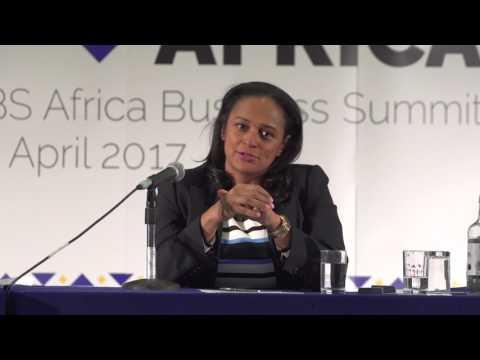 Isabel dos Santos speaks at LBS Africa Business Summit 2017